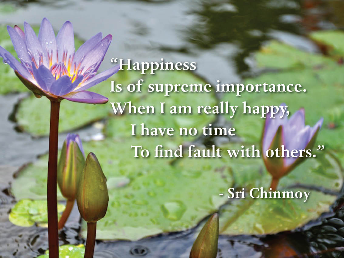 Happiness Sri Chinmoys Poetry