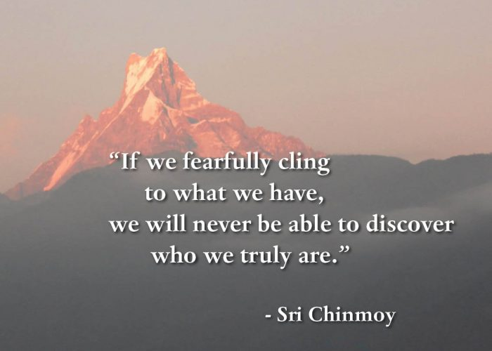 If we fearfully cling to what we have